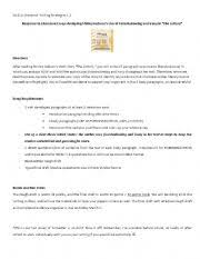 english worksheet the lottery essay assignment english worksheet the lottery essay assignment after reading shirley jackson´s