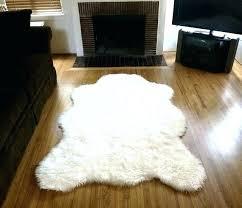 white polar bear rug with head faux real
