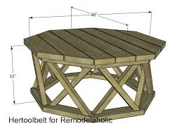 Prefer wheels or simply reclaim the metal from home and build metal hairpin legs for your handmade wooden coffee tables. How To Build An Outdoor Octagon Coffee Table With Lattice Legs