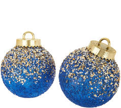 Kringle Express Indoor/Outdoor S/2 Glitter & Sequin Ornaments - H211550