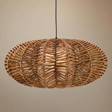 rattan pendant lighting. Lovable Rattan Pendant Light Antigua Flat Round Lampsplus Https Lighting