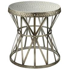 metal accent table. Hammered Top Antique Nickel Metal Accent Table