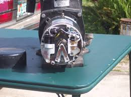 pump motor with back removed