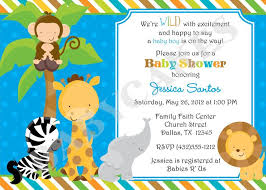 29 Images Of Jungle Animals Baby Shower Invitations Blank Template