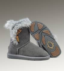 UGG Fox Fur Short 5685 Grey Boots