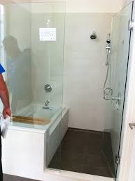 corner rectangle bathtub and walk in shower combo with swinging glass door tub best tubs portable