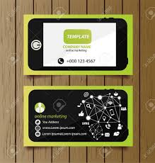 Online Busines Card Business Card Template For Online Marketing