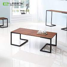 simple mdf coffee table with metal leg