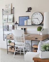 home office style ideas. Farmhouse Style Home Office. Great Ideas For A Small Office Space!