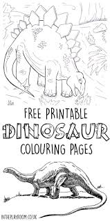 Dinosaur Colouring Pages