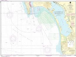 Noaa Nautical Chart 18772 Approaches To San Diego Bay