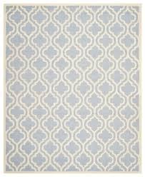 safavieh handmade moroccan cambridge light blue wool rug 8 x