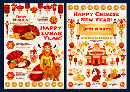 In east and southeast asia, brunei, indonesia, laos, malaysia, north korea, singapore, south in mandarin, the same greeting is gong xi fa cai (pronounced gong she fa tsai). Happy Chinese New Year Wishes For 2018 Yellow Dog Lunar Year Royalty Free Cliparts Vectors And Stock Illustration Image 93370492