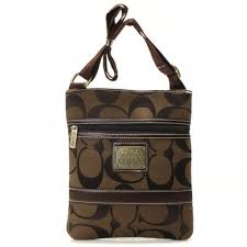Coach Legacy Swingpack In Signature Small Coffee Crossbody Bags AVB