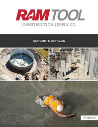 Rugged Concrete Design Of Houston Concrete Catalog 3rd Edition By Ram Tool Construction Supply
