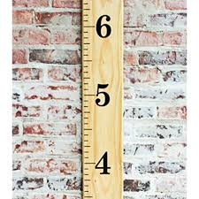 Ruler Growth Chart Vinyl Decal Diy Vinyl Growth Chart Ruler Decal Kit Jumbo Numbers