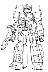 Small Picture Get This Simple Optimus Prime Coloring Page to Print for
