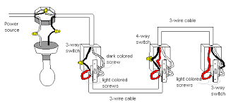 wiring a 3 way or 4 way switch 3 Wire Switch Wiring Diagram 3 Gang Switch Wiring Diagram