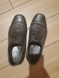 Bata Mens Uk Size 7 Black Leather Shoes 54 21 Picclick