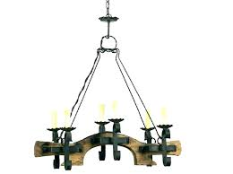 wood and iron chandelier distressed rustic 5 chandeliers black chand