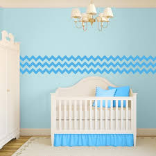 chevron wall decal border ice blue chevron wall decal border