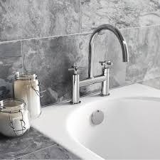 Modern Bathroom Taps Enki Oxford Cross Handle Design Bath Filler Shower Basin Mixer