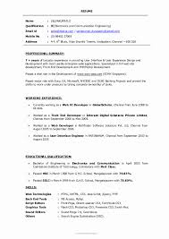 13 Fresh Resume Format For Experienced Mechanical Design Engineer