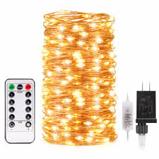 Outdoor Led String Lights With Remote Control Us 14 44 15 Off Kohree Us Plug 66ft 200 Led String Lights With Remote Control Waterproof Cooper Wire For Outdoor Christmas Decoration In Lighting