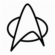 Badge, fiction, ios, sci-fi, science, star, trek icon