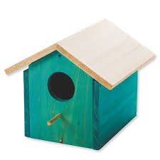 wooden birdhouse unfinished unassembled