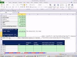 Cash Flow Calculation Excel Excel Finance Class 83 Estimating Cash Flows For Npv Calculation