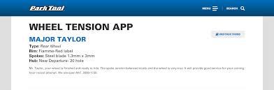 Wheel Tension App Instructions Park Tool