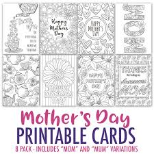 Small Picture Mothers Day Coloring Cards 8 Pack Sarah Renae Clark