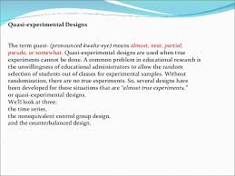 evaluation of types of experiments   Research   Evaluation     Types of Evaluation Designs