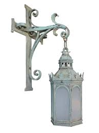 gothic lantern lighting. LARGE GOTHIC CAST BRONZE EXTERIOR LANTERN - Art Deco Victorian Nouveau Traditional Wall Lighting Dering Hall Gothic Lantern