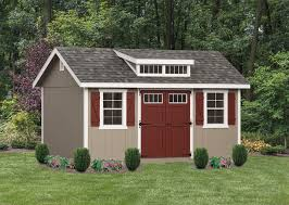 10 x16 classic painted with optional shed dormer transom windows in doors