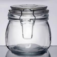 american metalcraft hmj4 16 oz glass hinged apothecary jar