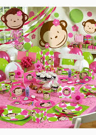Pink Monkey First Birthday Theme for Girls 34 Creative Girl Party Themes and Ideas | Madeline