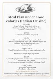 Meal Plan Under 2000 Calories For Indian Cuisine - The Jane And ...