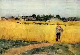 berthe morisot grain field c 1875 musée d orsay