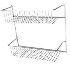 details about closetmaid 2 tier pantry kitchen bath cabinet door storage rack organizer 12 in