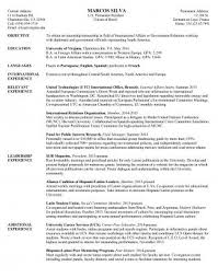 Resume Sapmles Resume Samples Uva Career Center