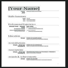 Resume Format Simple Simple Resume Template Word Best Cover Letter ...