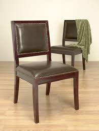 chestnut leather in schools chair design ideas leather nailhead dining chairs dark brown leather nailhead dining chairs set of