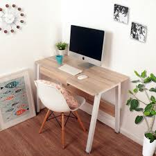 life carver new home office desk study laptop desk computer pc writing table workstation wooden metal co uk kitchen home