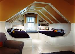 Sloped Roof Bedroom Ideas Inspiration Amusing Guys Attic Bedroom Double White Bed