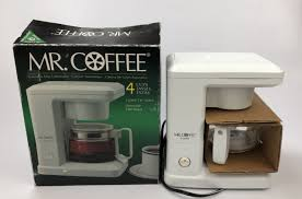 Enjoy a hot cup of joe with the mr. Mr Coffee 4 Cup Coffee Machine Automatic Drip Coffee Maker White Model Tr 4 Aa For Sale Online