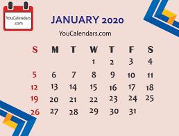 Calendars 2020 Free