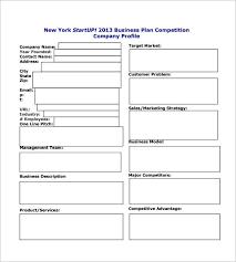 Startup Business Plan Sample Business Plan Startup Template Startup Business Plan