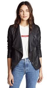 bb dakota eastside zip front jacket in black